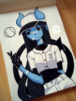 Baseball player Icicle - colored version by poliip