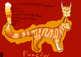 Flamefur (updated) by Bloodshadewolves