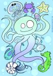 Sea Critters - coldcolors ver by Chocoreaper