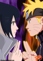 naruto vs sasuke - Collab by nikocopado