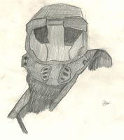 Master Chief Drawing by Winter-218