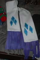 Rarity Scarf with Painted Cutie Marks by PegasusSongs