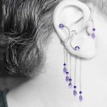 Purple Velvet And Tanzanite Ear Wrap And Cuff Set by YouniquelyChic