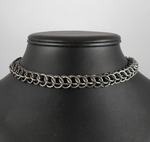 Black Steel Half Persian Choker by Tarliman