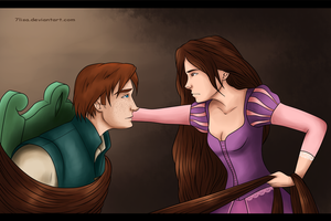 Tangled. Ron and Hermione by 7Lisa