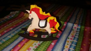 Lil Rapidash rocky horse  -side 1 by CraftyFlareon
