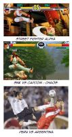 Street fighter vs Peru vs Arg by bbmbbf