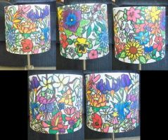 Floral Lamp Shade by bueatiful-failure
