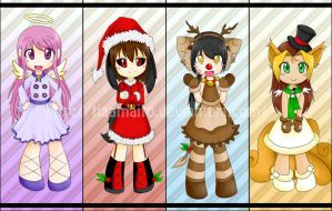 x-mas bookmarks by mr-tiaa