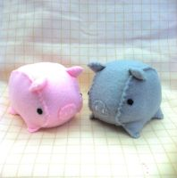 Tea Cup Piggy Plush Set by PinkChocolate14
