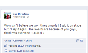 Louis' thank you for the VMA's by ILoveToWriteStories