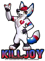Killjoy Coyote Badge by AlexDachshund