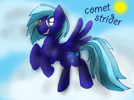 OC Comet Strider the pegasus by BlueAcrylicFox