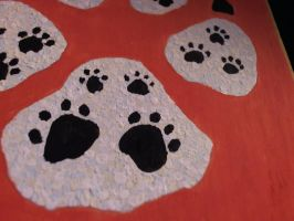 Fenris Paw Painting Closeup by Meercat122