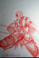 God of War, Kratos by Fluffyisawolf