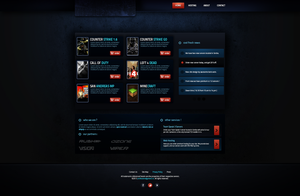 ProfessionalGamers Web Template -SOLD by BorisWick