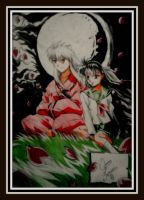 Inuyasha and kagome by Oscarliima