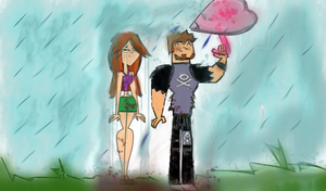 Wetted Girl,Lucky Couple by KingFlurry