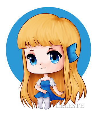 [Celestial Grunt] Chibi Carin *SPEED PAINT* by Celeste-Reyes