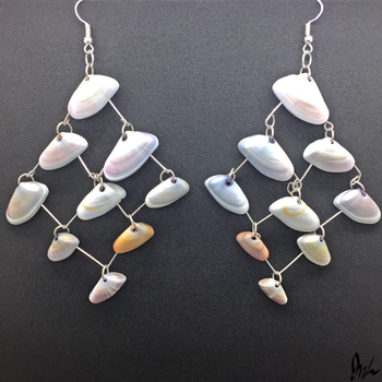 Shell Earrings by oceans-and-galaxies