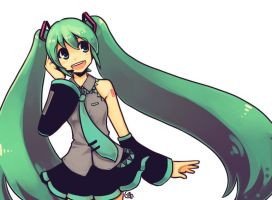 100309 Miku by DejiNyucu