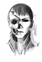 Dishonored: the Outsider's skull by Hizoku-no-Oni