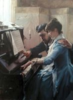 piano lesson by AndriyMarkiv