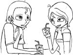 Garth and Lilly Having a Soda by NEOmi-triX
