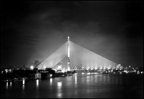Rama VIII Bridge by palmbook