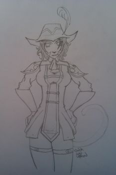 RedMage Mithra Lefthanded by snitchie