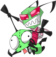 Zim and GIR by Greathorn