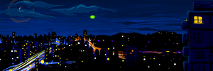 Vista Nocturna - Night View by mottomoyoi
