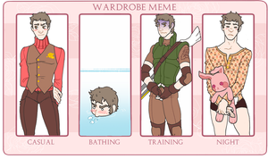 Eromania - Wardrobe meme - Chris by pedrono
