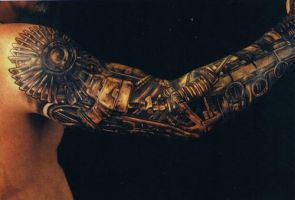 Robot Arm Tattoo by Machineofdeath45