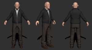 Mike Ehrmantraut by Mlamorte