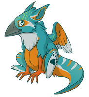 BABBY KINGFISHER by Kingfisher-Gryphon