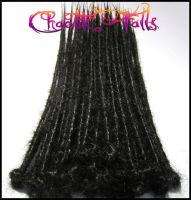 Black Custom Synthetic Dreads by ChaotikFalls