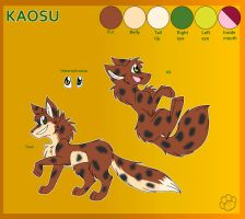 Kaosu the fox - Reference by Marcella-Youko