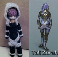Mass Effect Amigurumi - Tali by smapte