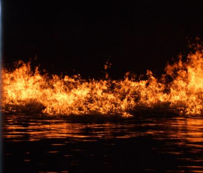 Fire on the water by jacksfairyfay