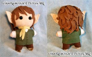 Bilbo Baggins Plushie - Front and Back by ChloeRockChick14