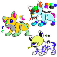 Hyena Adopts-OPEN by Wolfies--Adopts