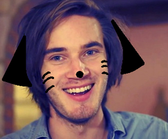 I Made Pewdie A Cat by evilsushicat