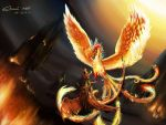 Oriental Phoenix VS Red Dragon by ohnios