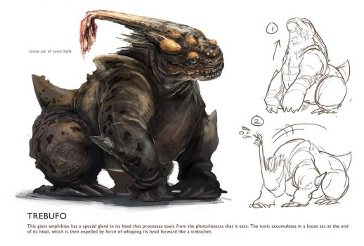 Trebufo (Creature Design) by Anday