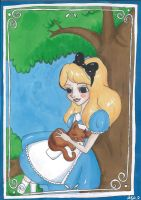 Alice with Dinah by palmcastle
