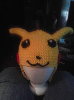 Pikachu Hat finished (front) by AngelofMusik22