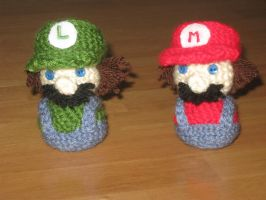 Mario and Luigi Amigurumi by Craftigurumi