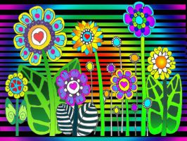 HIPPIE FLOWERS by CorazondeDios