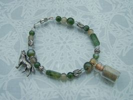 Gray Wolf Spirit Lunar Forest Bracelet -SOLD- by DaybreaksDawn
